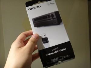 ONKYO CR-N755とWi-Fi接続するためのONKYO ワイヤレスUSB LANアダプター (ブラック) UWF-1(B)を購入