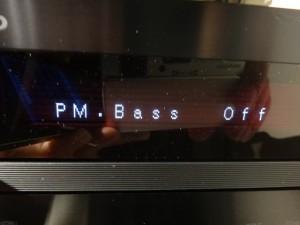 PM.Bassコントロールで音調節も可能