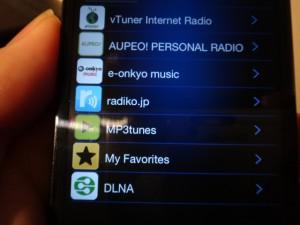 無料アプリONKYO REMOTE2でネットラジオを選択。ほら、こんなにたくさんのチャンネル!