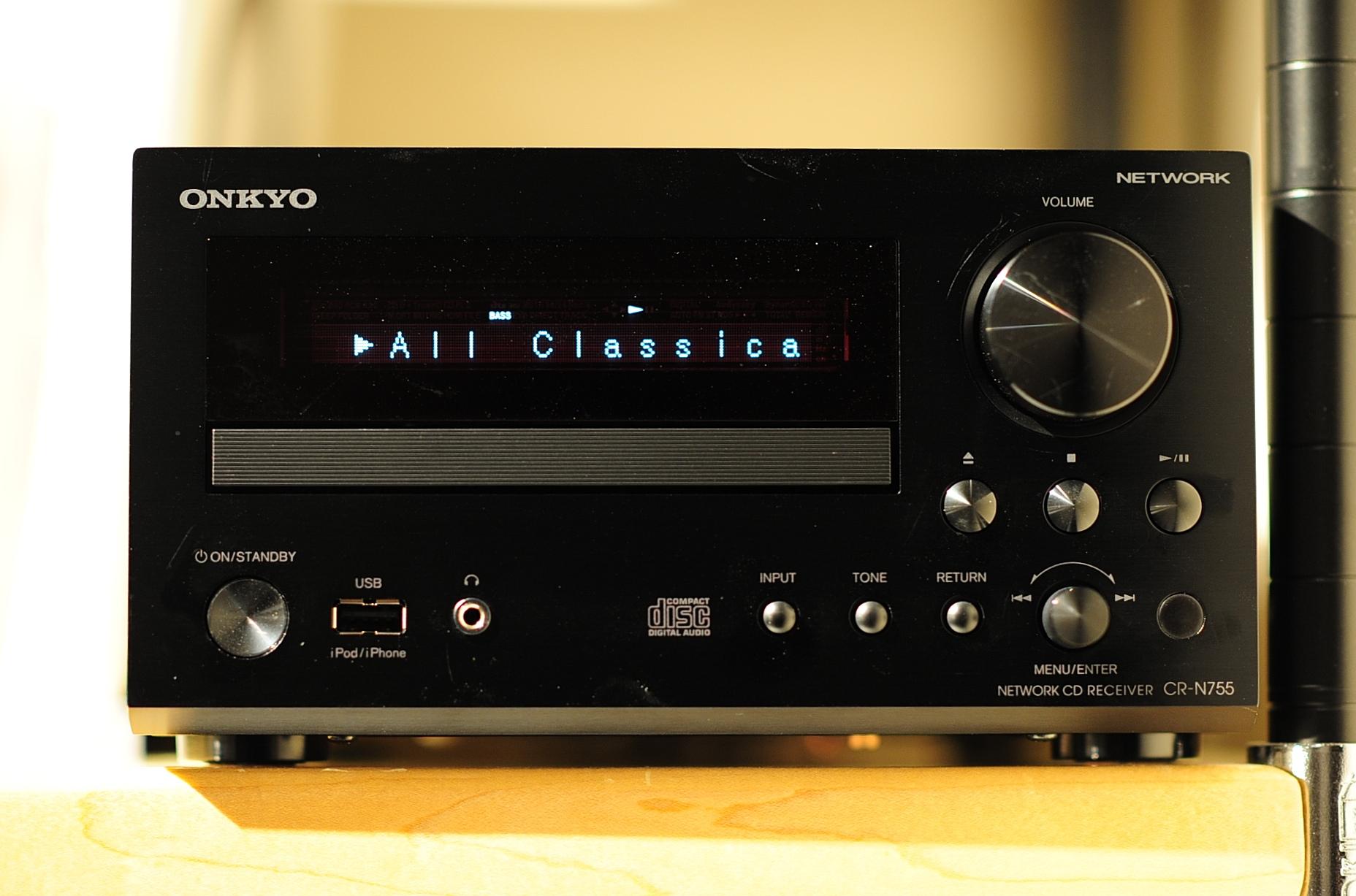 ONKYO CR-N755を購入 別角度