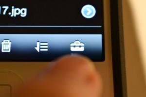 PWS Managerアプリの起動後、右下のツールボックスアイコンを押下