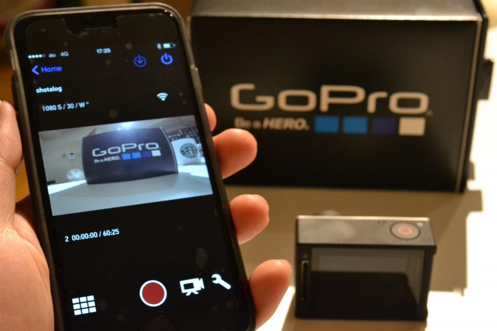 iPhone 6を使い、GoPro HERO4 SilverとGoPro Appを接続!めちゃめちゃ楽しい。アドレナリンが出ますな。