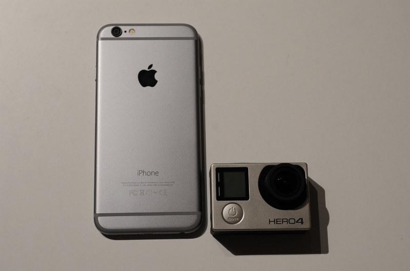 iPhone 6 with GoPro HERO4