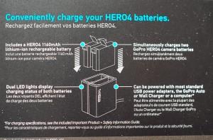 Go Pro デュアルバッテリーチャージャー HERO4 AHBBP-401