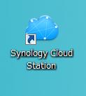 インストール後、CloudStationを立ち上げます。