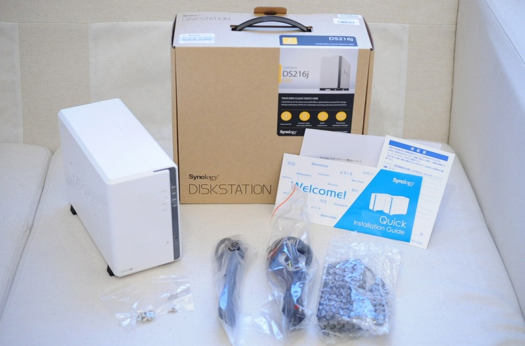 Synology NAS DiskStation DS216j購入レビュー(NAS DS215j後継機)