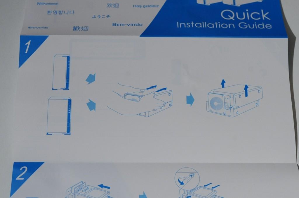まずはクイックガイドにそって、HDDを取り付けましょう。