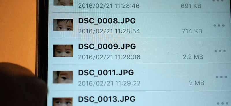 まずはDS file上で、移動したいファイルを選択します。