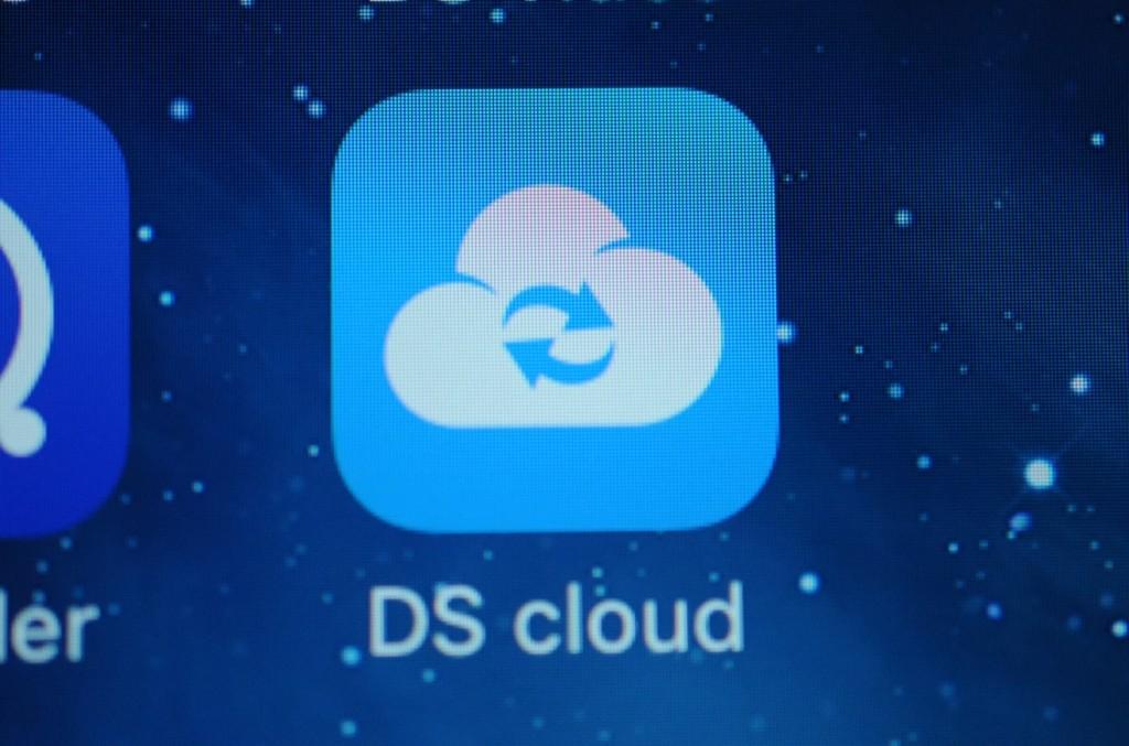 iPhoneにダウンロードしたDS cloudを起動します。