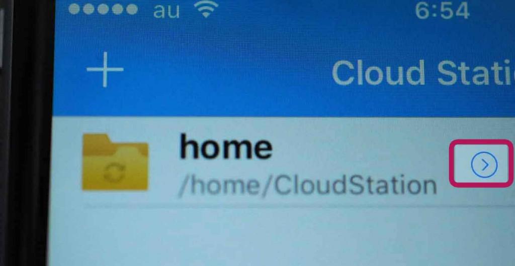 ちなみに、CloudStation同期ディレクトリ情報のメニューを押下(赤枠)すると↓