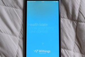 あらかじめダウンロードしておいた、Withingsアプリが起動されます。