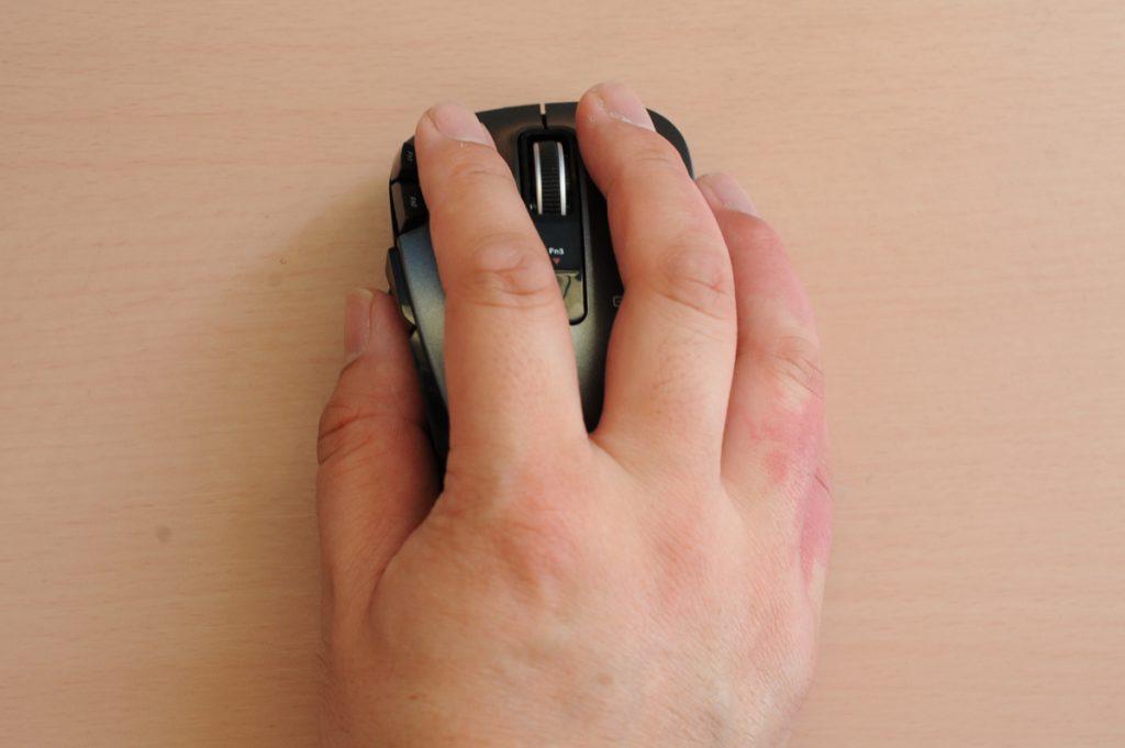 エレコム ワイヤレスマウス 無線 2.4GHz レーザー 8ボタン チルトホイール Lサイズ ブラック M-XGL20DLBK