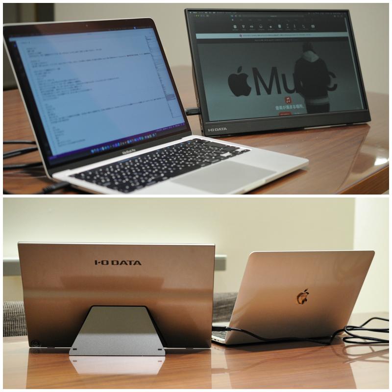 MacBook Pro 13インチとEX-LDC161DBMの接続イメージです。